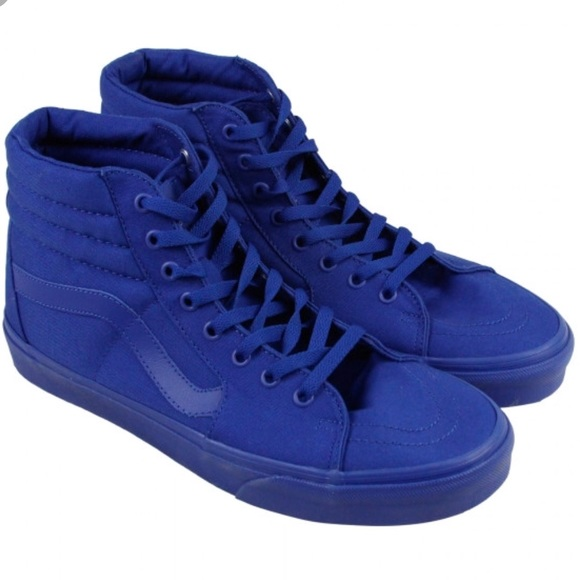 ff79e7d0e7 Vans Sk8 Hi Mono All Blue Canvas Sneakers